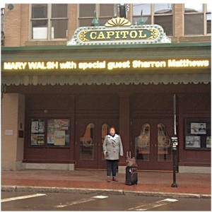 Mary with Sharron Sign