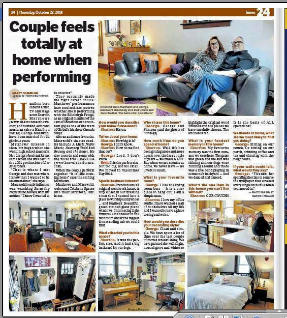 Toronto Sun HOUSE Article!!